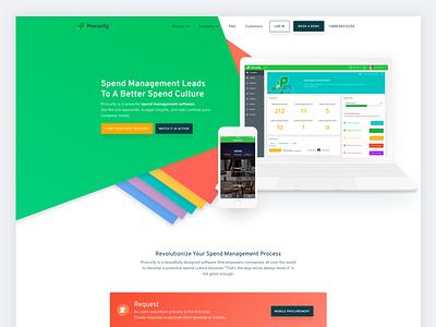 Procurify Website desktop app vancouver process green design purchasing landing page startup redesign website procurify
