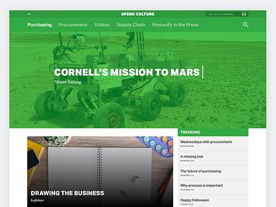 Procurify Blog Redesign vancouver startup blogging longform website layout procurify design blog