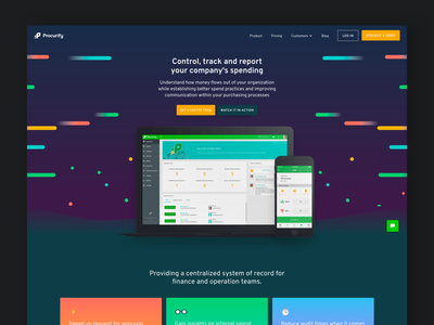 New Procurify Homepage app space web design website software landing page homepage