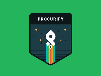 Procurify Shirt/Patch Design design graphics logo procurify patch shirt space