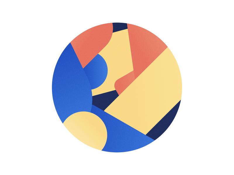 Just Colours and Shapes stickermule palette colours colors coaster coaster design illustration vector design