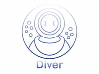 illustrated Diver logo