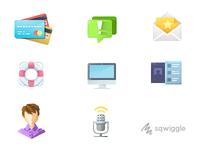 Sqwiggle Help Icons