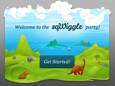 Sqwiggle Popup illustration photoshop pop up animals overlay sqwiggle icon logotype