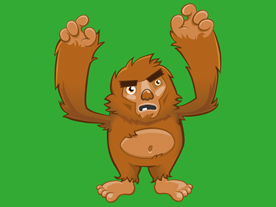 Bigfoot  illustrator big foot yeti vector character illustration