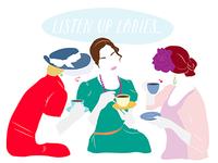 """ladies luncheon"" bridal shower invite illustration"