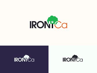 IRONiCa Fertilizer Logo minimal logo identity branding typography flat design