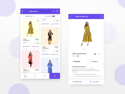 Cloth seller's app ui mobile app design uiux ui design purchase fashion app app sellers fashion dress cloths clothing sellers app