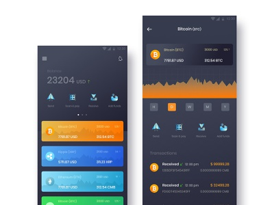 Crypto currency mobile app design uiux ui design crypto bitcoin bitcoin wallet cryptocurrency investments crypto exchange crypto wallet wallet app cryptocurrency app cryptocurrency