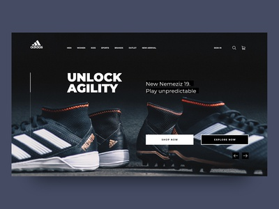 Adidas home page