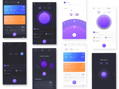 Set alarm - app light theme dark theme ui mobile app design uiux ui design setting alarm alarm app clock app new alarm alarm set alarm clock
