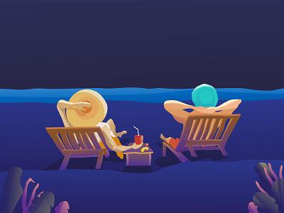 Illustration - beach minimalism minimal minimalist minimal illustration beach illustraton illustrator