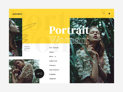 Portrait  Woman ui video animation affter effects sketch vector illustration web typography design online shop ux ui