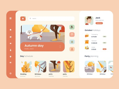 autumn planing party haloween holidays illustration design photoshop cc ux ui autumn