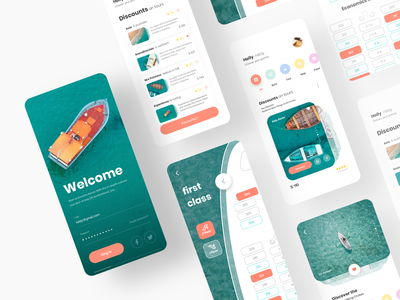 Cruise Mobile UI iphone android ios registration booking ship cruise travel mobile app design sketch ux ui