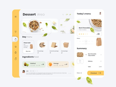 Vegetable Food Dashboard Concept