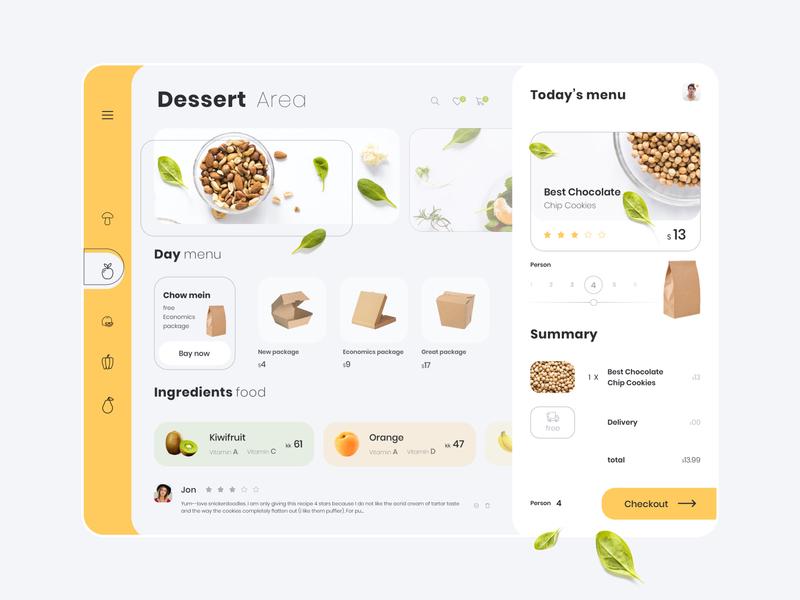 Vegetable Food Dashboard Concept photoshop cc sketch color online shop bay checkout desert fruit ux ui tablet food vegetable
