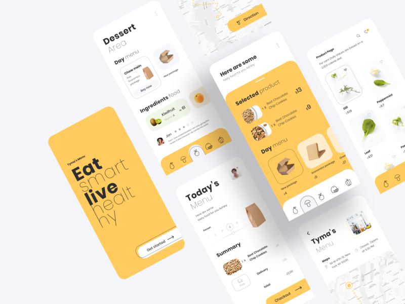 Vegetable Food Mobile Concept vegetable food typography mobile app online shop design ux ui bay
