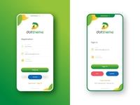Login Screen Design | Mobile UI Design | Sign in Sign up
