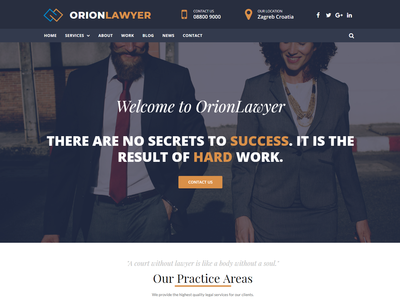 OrionWP Lawyer Landing Page - Elementor