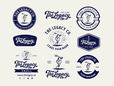 The Legacy Co. badges branding identity branding design branding handdrawn design pack design kit badge badgedesign design logo illustration