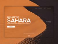 EXPLORE THE SAHARA - UI WEB DESIGN