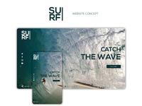 SURF - UI DESIGN ( Website Concept )