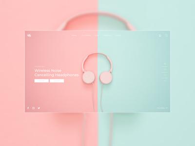 Headphones Brand Website design Concept