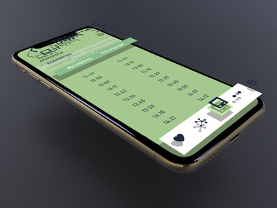 Bus line timetable screen for OASTH app