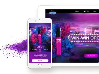 Website for Durex women graphic design ux design ui design web
