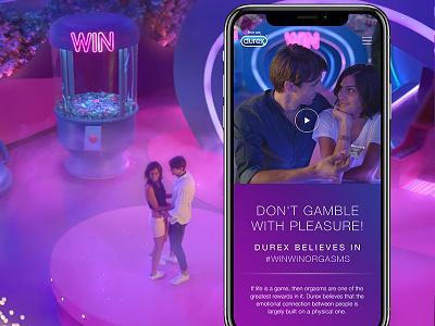 Durex / Website website mobile love game durex play ui design web
