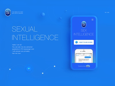 Si / Artificial Sex Intelligence ai messenger durex si intellegence design web ux ui