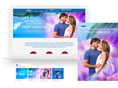 Durex Intense design advertising smm key visual visual communication graphic design web design