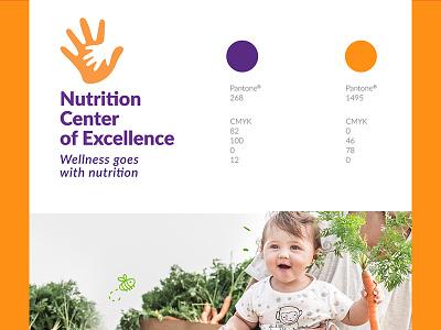 Nutrition Logo web browser branding visual style guide web hands brand identity branding logo