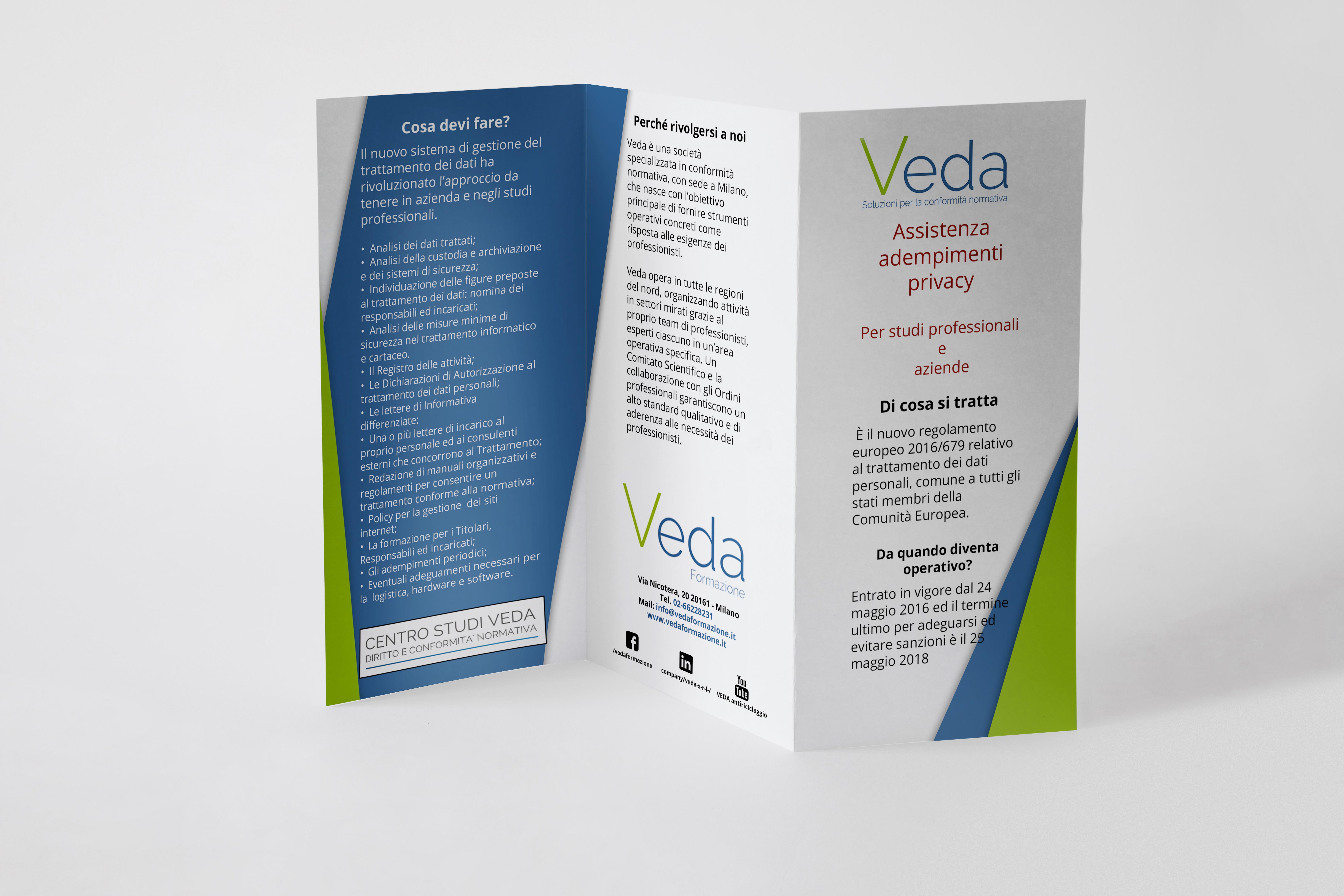 Design Per Tutti Com trifold brochure design by domenico davoli on dribbble
