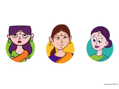 Indian Girls Stickers