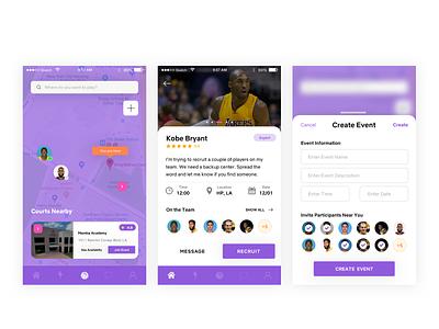 Flex (Rebranding) Basketball UI inspiration mobile ios ux card ui basketball
