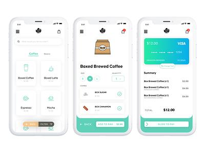 Macau E-commerce Coffee Shop ios inspiration white visual uidesign ui uxui ux design coffee shop clean coffee mobile design app