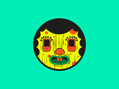 Maniak3 branding design vectorart mani alberto álvarez tee shirt skateboard illustration characterdesign