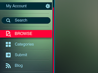 Mobile App Sidebar Concept