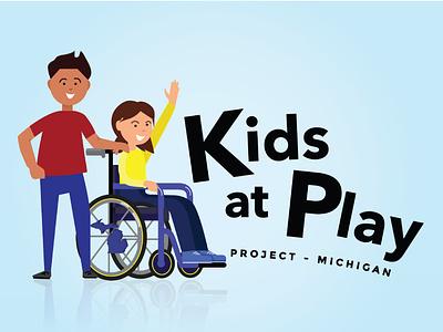 Kids at Play Non-Profit logo playground equality disability non-profit nonprofit typography logo design branding illustration adobe illustrator illustrator vector art graphic design vector