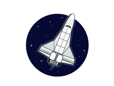 Space Shuttle Icon flat design adobeillustator adobe spaceship space nasa icon illustration adobe illustrator illustrator vector art graphic design vector