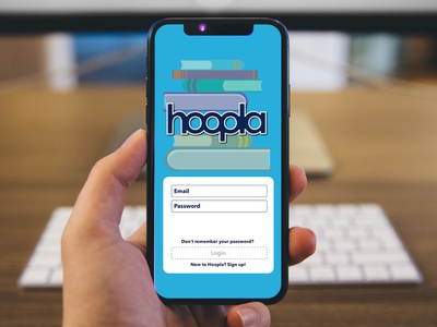 Hoopla Login Screen ReDesign (Dribbble Weekly Warmup) library book books app design app screen dribbbleweeklywarmup login screen logi illustration adobe illustrator illustrator vector art graphic design vector