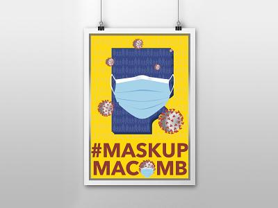 #maskupmacomb michigan typography competition covid mask design illustration adobe illustrator illustrator vector art graphic design vector