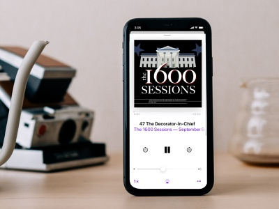 The 1600 Sessions Podcast Cover Image (Dribbble Weekly Warmup) podcast art usa white hosue dribbbleweeklywarmup redesign podcast america the white house logo design branding illustration adobe illustrator illustrator vector art graphic design vector