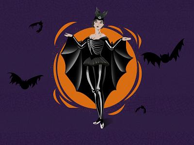 Flapper Halloween (Dribbble Weekly Warmup) dribbbleweeklywarmup ipad retro halloween costume halloween bash halloween illustration adobe illustrator illustrator vector art graphic design vector