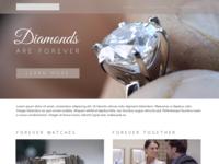 Jewelry Website Mock-up