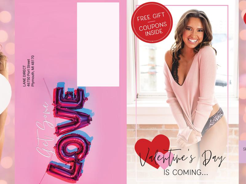 Lover's Lane Valentine's Day Mailer marketing collateral marketing branding valentines day mailer layout design layoutdesign layout graphic design