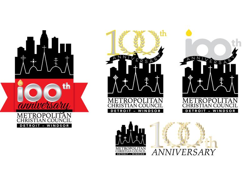 Charity Event 100th Anniversary Logo event artwork event logo charity logo branding adobe illustrator illustrator graphic design vector art vector