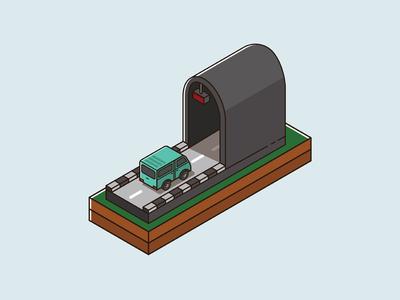 tunnel isometric